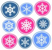 Nine snowflakes Stock Photo