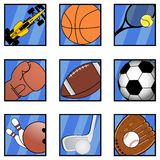 Nine sport Royalty Free Stock Image