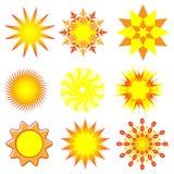 Nine Suns Royalty Free Stock Image