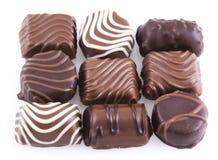Nine Tempting Bonbons. Royalty Free Stock Images