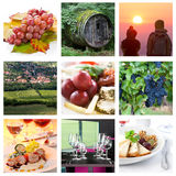 Nine theme with wine and food styllife Royalty Free Stock Image