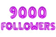 Nine thousand followers, purple color Royalty Free Stock Images