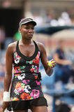 Nine times Grand Slam champion Venus Williams during her first round doubles match at US Open 2013 Royalty Free Stock Image