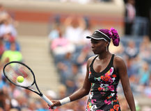 Nine times Grand Slam champion Venus Williams during her first round match at US Open 2013 Stock Photography