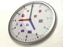 Nine to five icons work life balance concept clock Stock Image