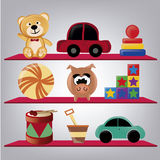 Nine toys Royalty Free Stock Images