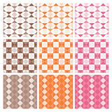 Nine trendy textile or wallpaper pattern Royalty Free Stock Images
