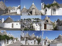 Nine Trulli Stock Photos