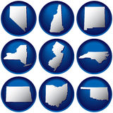 Nine United States Buttons Royalty Free Stock Photo