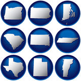 Nine United States Buttons Royalty Free Stock Image