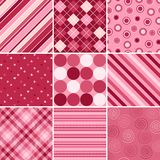 Nine Valentine Patterns. A set of nine background patterns for Valentines day Royalty Free Stock Image