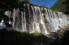 Nine Village Valley-Nuorilang waterfall Royalty Free Stock Photos