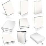 Nine white empty book template Royalty Free Stock Photography