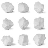 Nine white snowball. (Nine clipping path) Stock Image