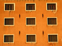 Nine windows in Venice Stock Images