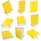 Nine yellow empty book template Stock Image