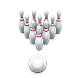 Ninepins de bowling Photo libre de droits