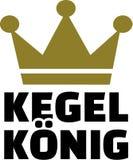 Ninepins King german. Vector sports Royalty Free Stock Photos