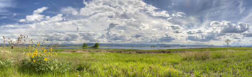 Ninepipes National wildlife Refuge Stock Images