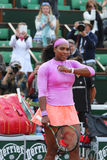 Nineteen times Grand Slam champion Serena Willams during third round match at Roland Garros Royalty Free Stock Image