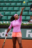 Nineteen times Grand Slam champion Serena Willams during third round match at Roland Garros Stock Photos