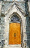 Nineteenth century church door Stock Images