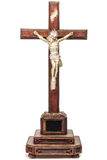 Nineteenth century crucifix with Jesus figurine Royalty Free Stock Image