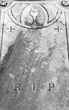 Nineteenth century grave covering Stock Image