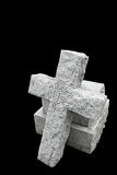Nineteenth century gravestone with broken cross Stock Photo
