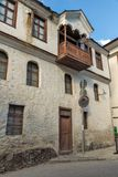 Nineteenth century houses in historical town of Shiroka Laka, Smolyan Region, Bulgaria royalty free stock photos