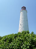 Nineteenth century lighthouse and vegetation Stock Photo