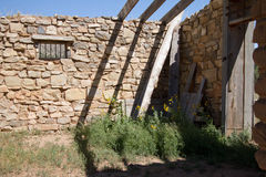 Nineteenth Century ruins in Lincoln, New Mexico Royalty Free Stock Image