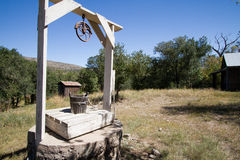 Nineteenth Century well in Lincoln, New Mexico Royalty Free Stock Photo