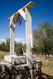 Nineteenth Century well in Lincoln, New Mexico Stock Images
