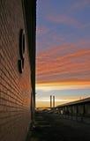 Nineth pier. On a sundown (Docklands, Melbourne, Victoria, Australia Stock Photos