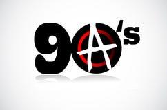 Nineties revolution stock illustration