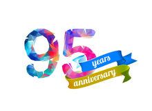 95 ninety five years anniversary. Royalty Free Stock Photography