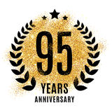 Ninety five years golden anniversary Stock Images