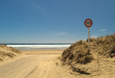 Ninety mile beach entry Royalty Free Stock Photography