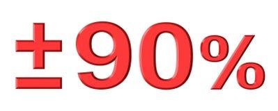 Ninety Percent stock illustration