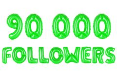 Ninety thousand followers, green color Stock Photography