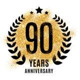 Ninety years golden anniversary Royalty Free Stock Photos