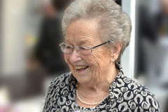 Ninety years old  senior woman Stock Images