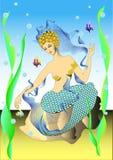 Ninfa de água ilustração do vetor