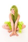 Ninfa de Whater com cabelo verde Fotografia de Stock Royalty Free