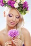Ninfa floral imagem de stock