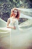 Ninfa hermosa Redheaded Fotos de archivo libres de regalías