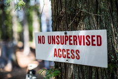 Ningún acceso no supervisado Fotografía de archivo
