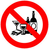 Ningún alcohol y muestra que fuma ilustración del vector