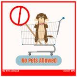 Ningún animal doméstico permitido Imágenes de archivo libres de regalías